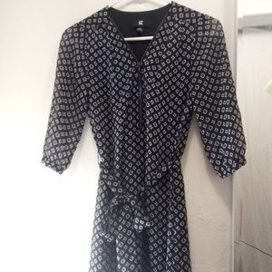 Black & White Patterned Dress